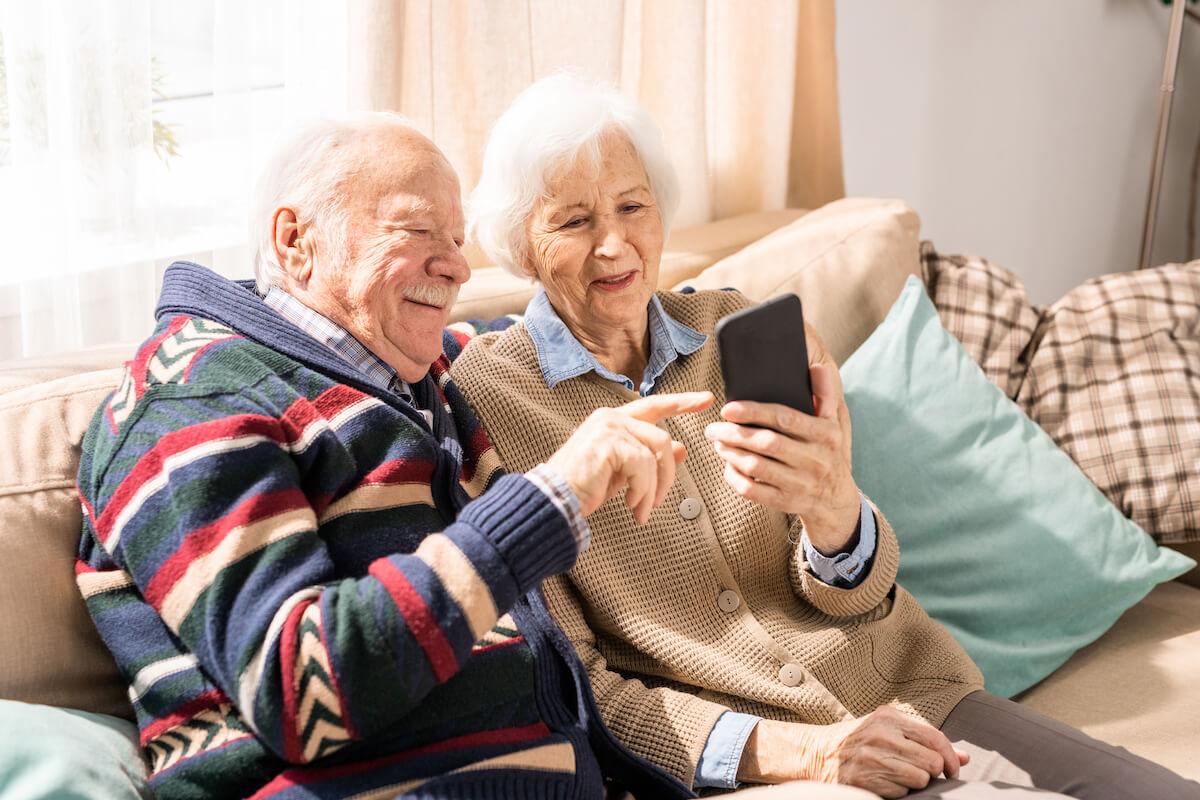 Senior Using SmartPhone Brickmont