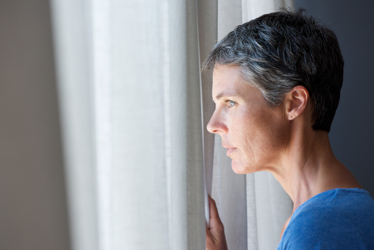 Concerned Middle-Aged Woman Early onset alzheimer's
